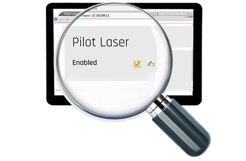 displacement sensors, features, web server, pilot laser
