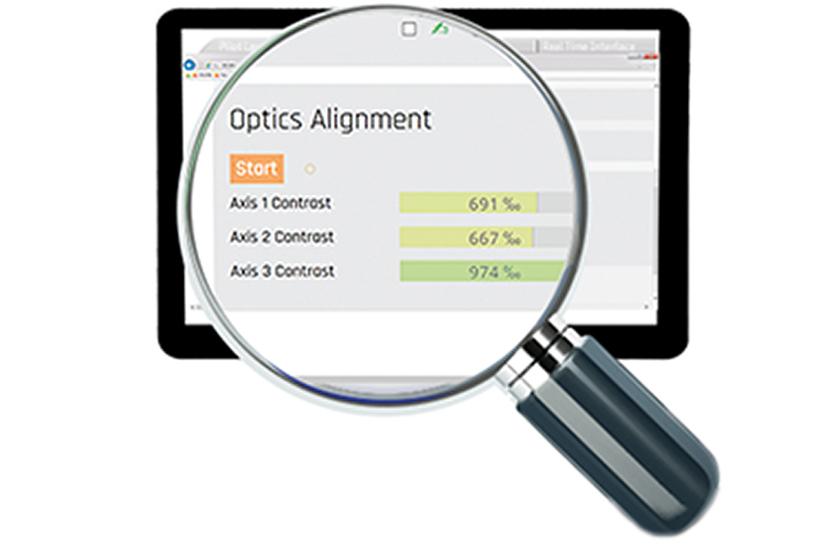 displacement sensor, features, web server, optics alignment