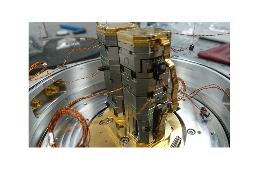 optical cryostat THz Transission Setup 1