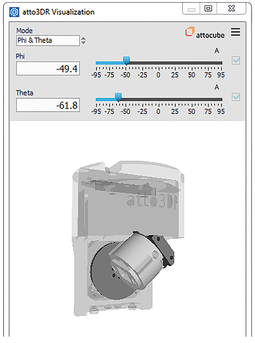 measurement tools, attotms, features, attocube modules, atto3dr view