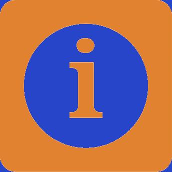 Info Icon, Orange
